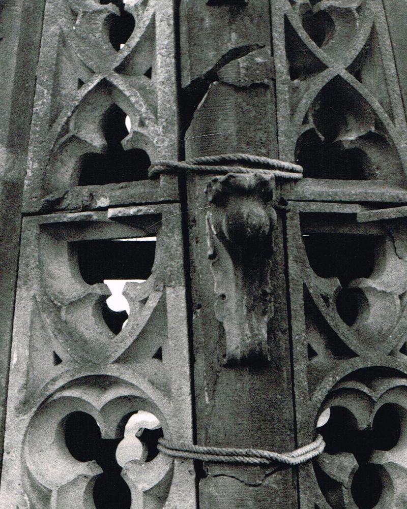 """""""Sicherung"""" der Kirchturmspitze"""