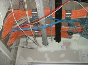 Schottungen an Kabelsträngen und Rohrleitungen
