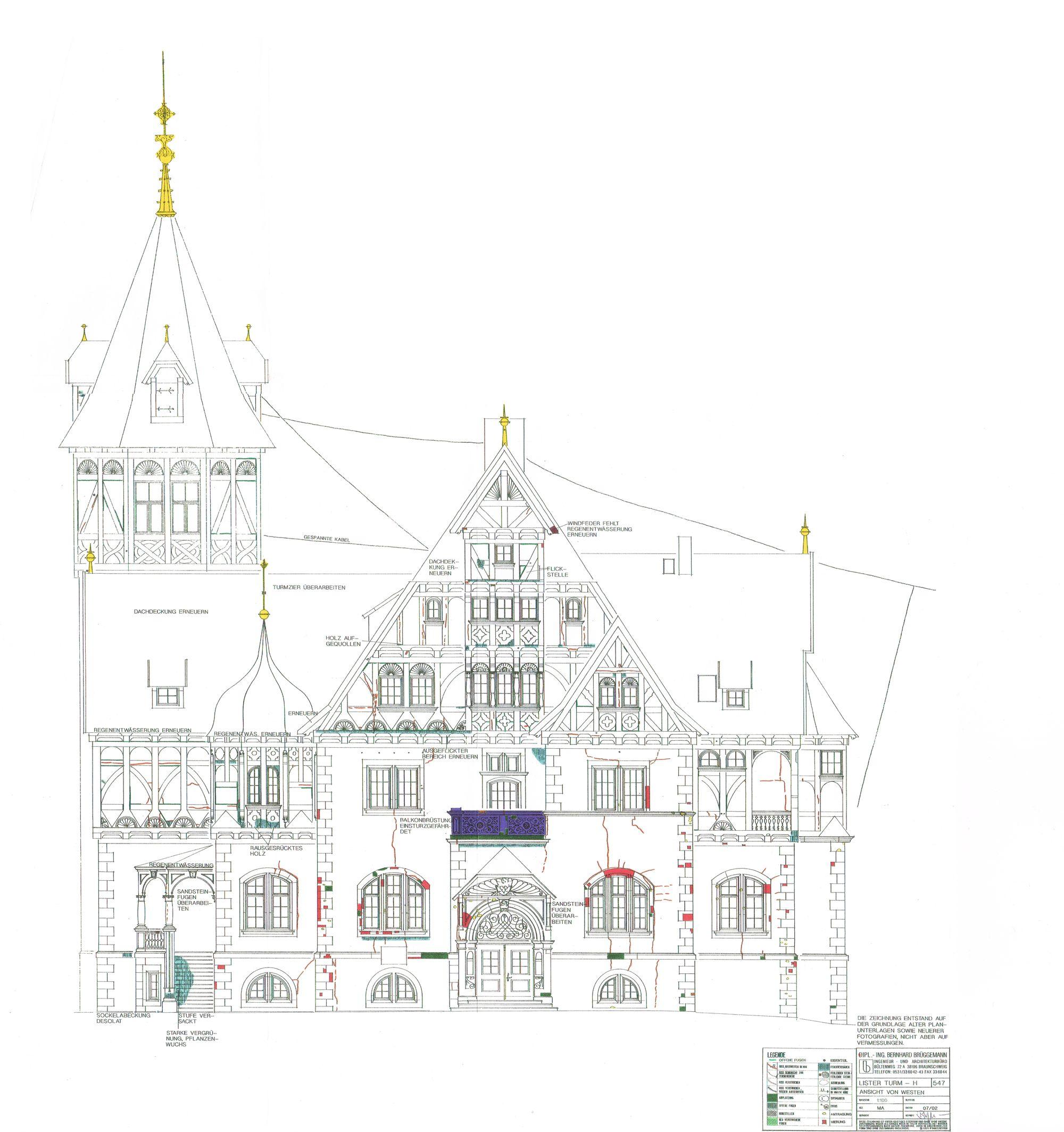 Zeichnung Lister Turm