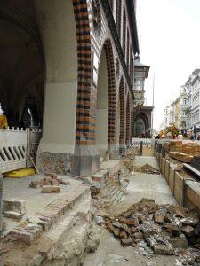 Rathaus Lübeck, freigelegte Gründung